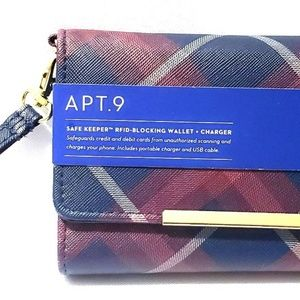 Used, RFID Blocking Wallet with Battery Charger - Apt 9 for sale